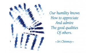 Only humility