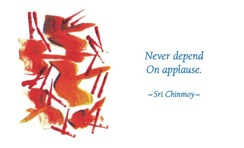 never-depend-on-applause